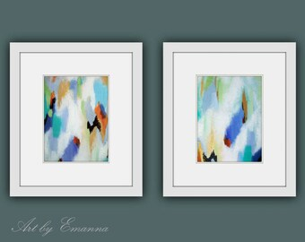 Printable Abstract Art, Instant Digital Download Art, Set of 2 Modern Painting, Contemporary Art, Abstract Painting, Modern Art