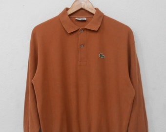 RARE!!! Lacoste Small Logo Embroidery Polos Sweatshirts Hip Hop Swag M Size