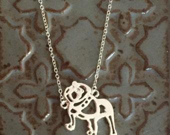 Bulldog Pendant Necklace English Bulldog necklace Jewelry Gift