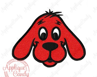 CliffOrd Big Red Dog Applique Machine Embroidery Design 4x4 5x7 6x10 INSTANT DOWNLOAD