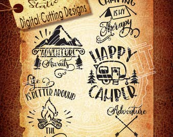 Outdoors Camping Collection Svg Camping Svg Tent  SVG DXF PNG and Eps Instant Download Digital Vector Cut File Htv Silhouette Cricut