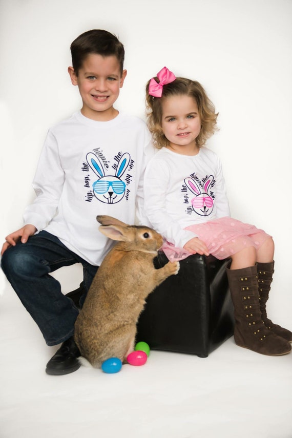 Easter shirt, sibling easter shirt, hip hop shirt, easter shirts for boys, easter shirts for girls, easter onesie, first easter, bunny shirt