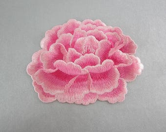 Pink Floral Appliques Embroidery Flower Patches