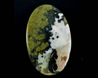 Ocean Jasper Oval Shape Loose Gemstone Cabochon 181Cts 75X48X6mm - Jewelry Making Semi Precious Ocean Jasper Gemstone - B-5331
