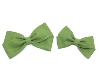 Green Hair Bow - Spring Green - hair bows - clip or headband