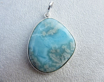 Pendant, necklace, Larimar, Atlantis, silver, blue, unique, natural color, mysticism, adorable,