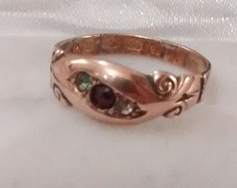 22ct Rose Gold, Victorian Ring - Size 5, J 1/2