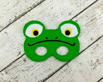 Frog Mask - Frog Party Favor - Dress Up - Pretend Play - Halloween