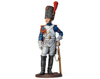 Tin Soldier, French Horse Grenadier, Napoleonic Wars, French Soldier, Painted Tin Soldier, Historical Miniature, Tin Miniature, 54 mm