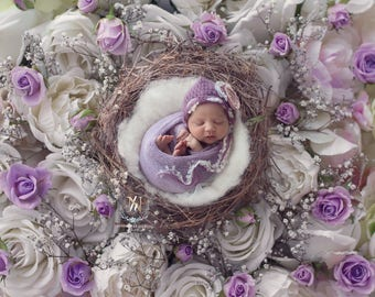 Newborn Digital Backdrop/ Prop / Photography /  Flower nest (Karasi)