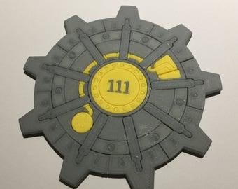 3D Printed Fallout Vault Door Coaster / Plaque