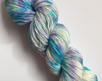 Polar Chill Speck-Al Hand Dyed Sock Yarn 100g DYED TO ORDER