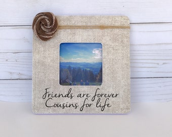 cousins picture frame personalized photo frame personalized gift