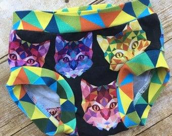 Neon Cats underwear, Boxerware, Kids underwear, kitty cats underwear, stretch underwear