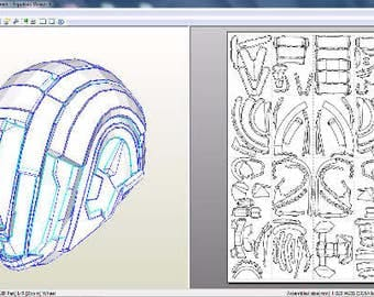 Helmet Walock Destiny. Obsidian template for RFQ archive