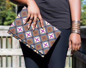 One of a kind Ankara Envelope Clutch