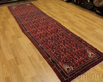 Oversized Hossainabad Runner Persian Oriental Area Rug Carpet Wool Sale 3'6 X 14