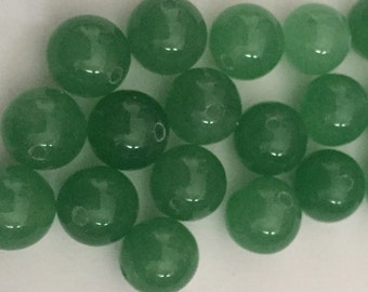 8mm Green Aventurine Beads (20 pieces)