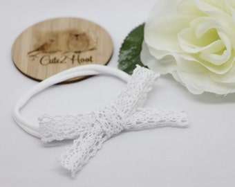 Lovely Lace White Headband, Girls Accessories, Baby hair clips, Hair clips, Girls hair clips, Headbands, Baby headbands