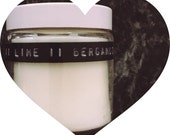 100 soy wax candle scented with lime and bergamot essential oil