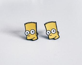 Bart Simpson Enamel Studs