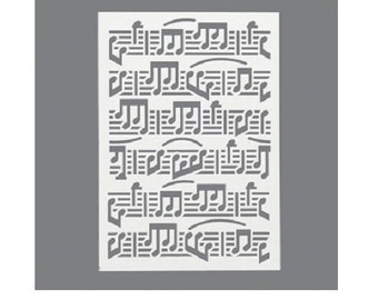 Stencil A5 - Stencil music Notes musical Notes - size A5