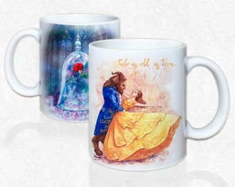Beauty and the Beast, Enchanted Rose, Mug by Takila