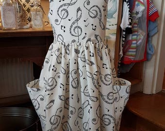 Age 5 musical notes print cotton June Dress