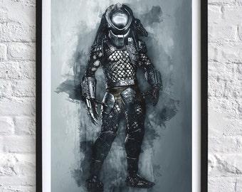 Predator 'Watercolor' A4 Print