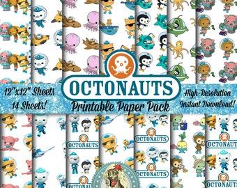 OCTONAUTS Digital Paper Pack, Octonauts Party, Octonauts Birthday, Octonauts Invitation, Octonauts Paper, Octonauts Clipart, Digital