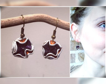 Upcycled Nespressoidee Gifts Christmas earrings