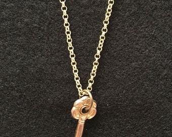 Adorable Vintage Small Secret Key Necklace