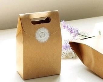 Baking gift box / bag bakery style, brown kraft paper. Baking DIY set of 4