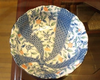 Beautifully Crafted and Designed Blue and White Asian Noodle Bowl