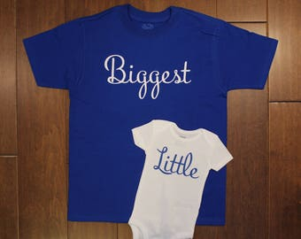 Big and Little Shirt bodysuit set, Big Brother, Big Sister, Little Brother, Little Sister, Sibling shirts, new baby, sibling shirts,