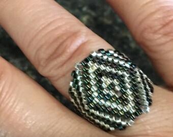 Miyuki ring, Handmade Ring, Nikitas Design Ring