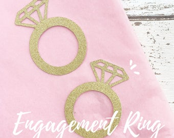 Engagement Ring Cup Cake Toppers (20 Pack)