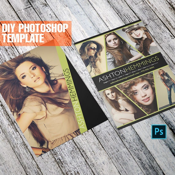 how to make a comp card in photoshop