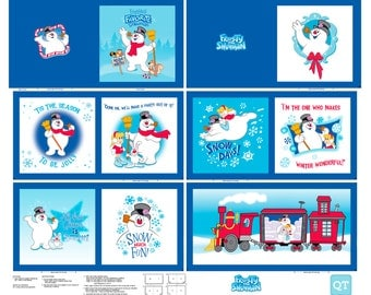Pre-Order Quilting Treasures Everyone's Favorite Snowman: Frosty the Snowman Cloth Book Panel - By the Panel - Available July 2017