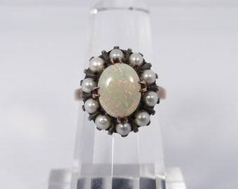 Antique Victorian Opal 10K Ring