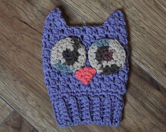 Owl bath mitt, bath mitt, cotton, crochet, eco-friendly