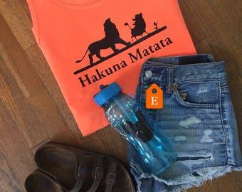 Hakuna Matata comfort color tank, FLASH SALE, Lion king disney world,  disney world tank, disney vacation tank top, disney vacation shirt
