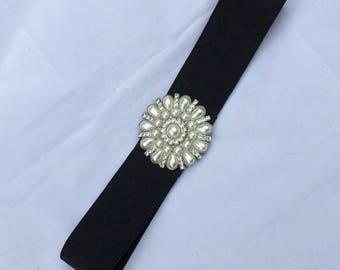 Lovely vintage elastic ladies belt with lovely buckle see pictures