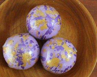 Lavender Bath Fizzies / Handmade Bath Bombs