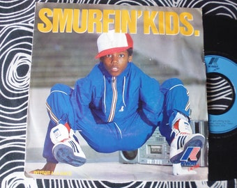Kway records 7' 1984 smurfing kids