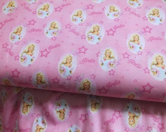 Cotton Jersey girlie pink colored girl doll fabric by the metre