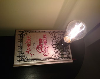 Anne Rice Vampire Chronicles Book Lamp