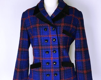 Karl Lagerfeld Check pattern tweed jacket