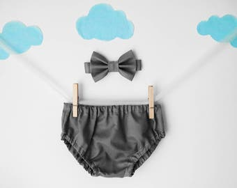 cake smash outfit boy, gray, baby bow tie, smash cake outfit, boys bow tie, 1st birthday outfit, first birthday boy, cake smash boy, bow tie