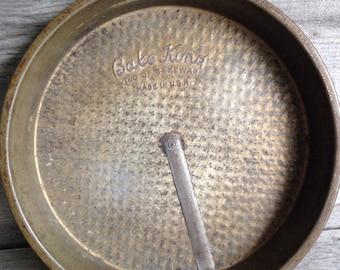"Vintage 8"" Bake King textured baking pan with release bar | Vintage bakeware"